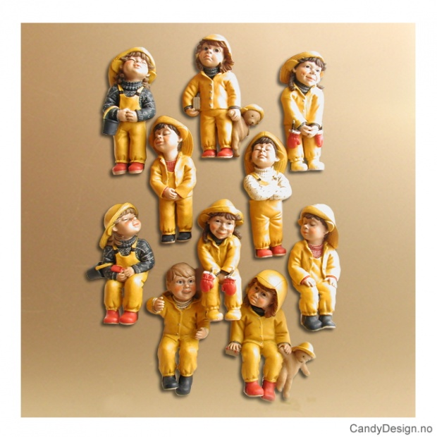 Mini barnehagebarn magneter