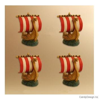 Vikingeskip med seil  suvenir magneter