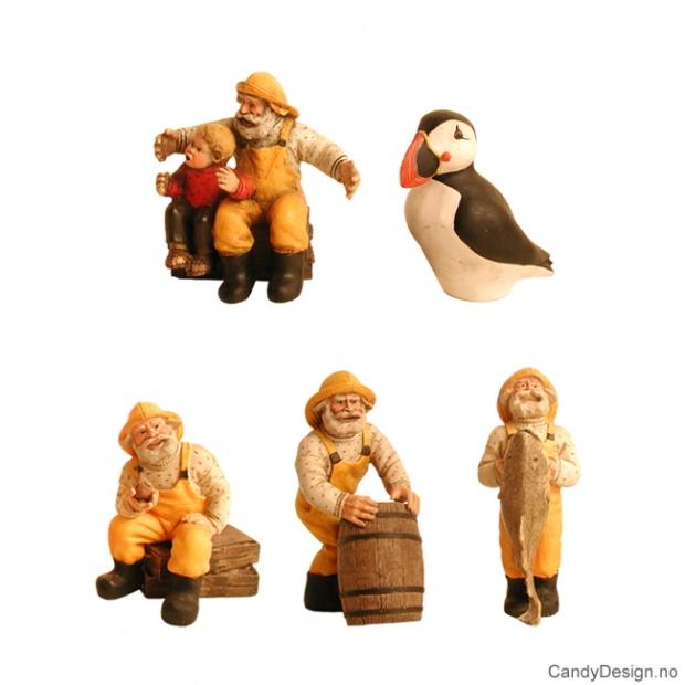 Miniatyr maritim-fiskere