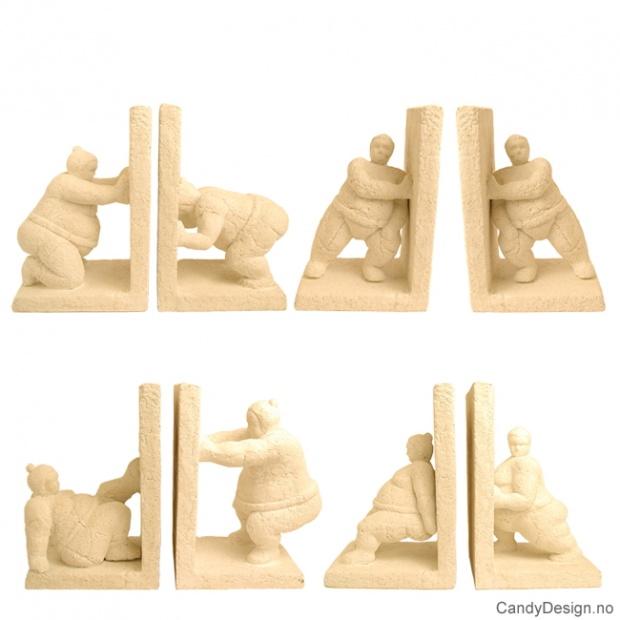 Sandsten bokstøtte skulpturer assortert