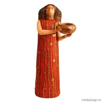 Gustav Klimt - kvinne med lysholder