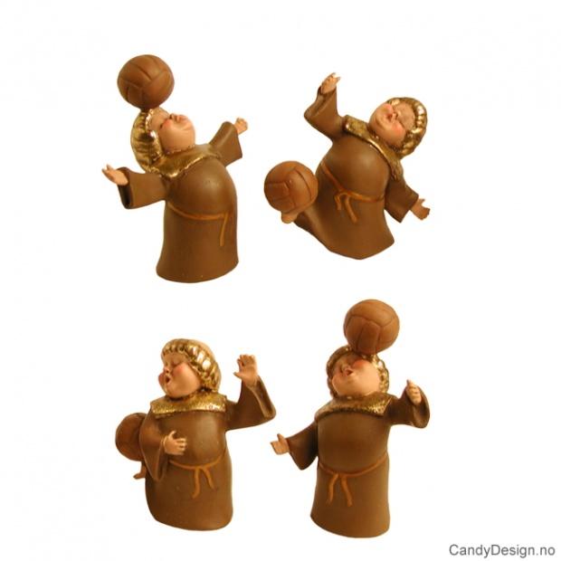 Munker som spiller fotball - brun