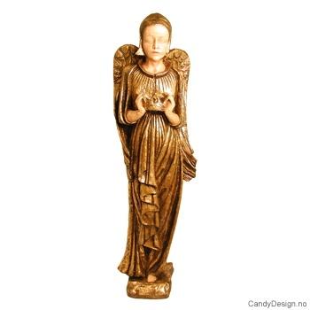 Stor engel skulptur - Gull