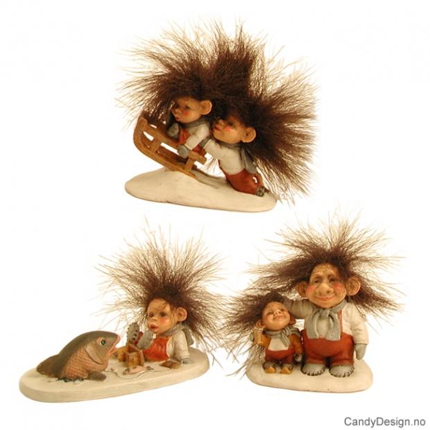Små tabå - vintertroll - fluffy hår