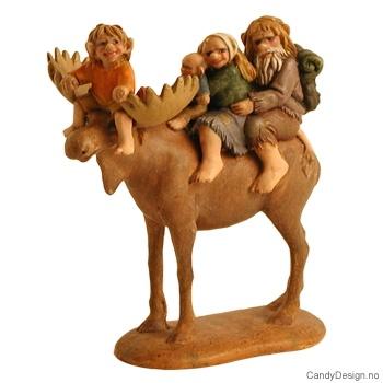 Elg med trollfamilie