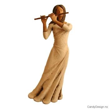 Pike figur med fløyte