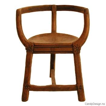 Antikviteter medium brun - Drakestil stol