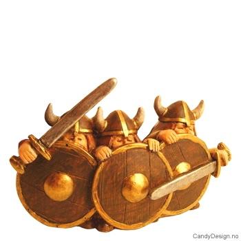 Tre vikinger - bred
