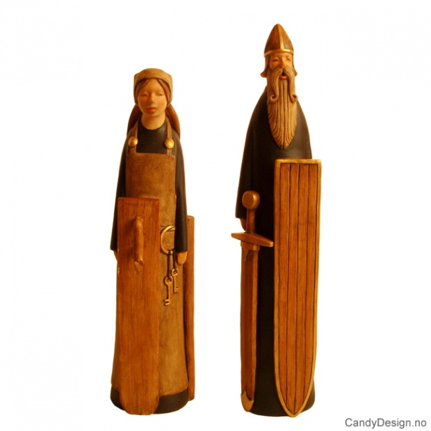 Vikingmann og kone suvenir moderne