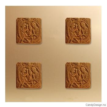 Vikingeplakett med magnet