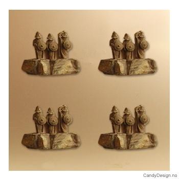 3 vikinger på stein  suvenirmagnet