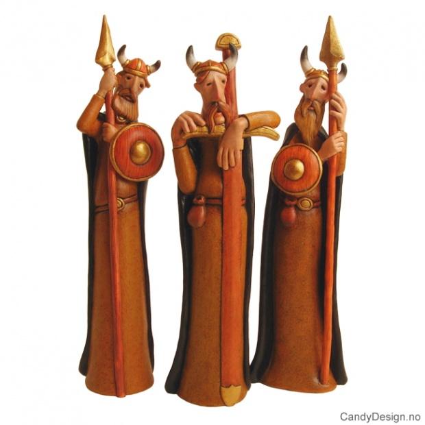 Trøtte viking krigere i farge assortert