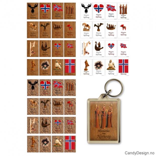 Suvenir nøkkelringer Memories from Norway