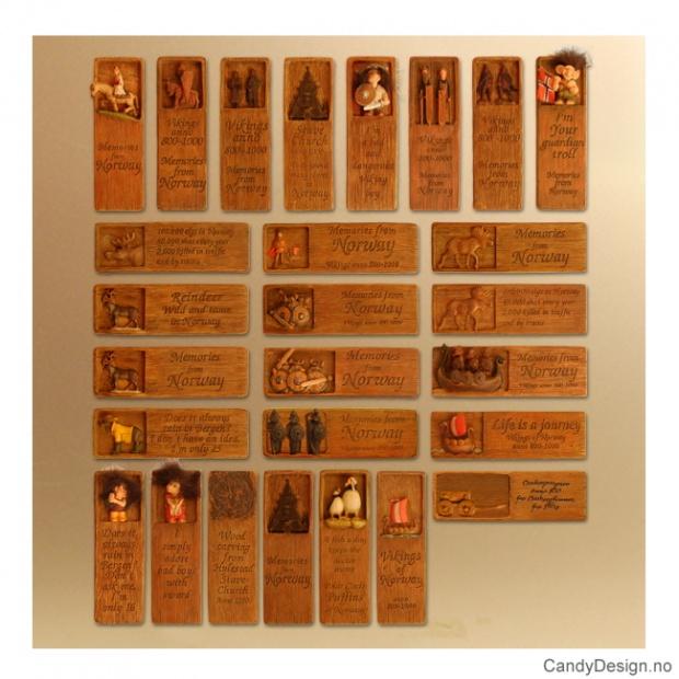 Woodstyle magnet plater med tekst