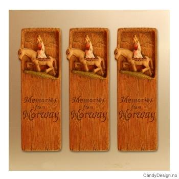 Woodstyle magnet plater med tekst  Prillarguri til hest magnet Memories from Norway
