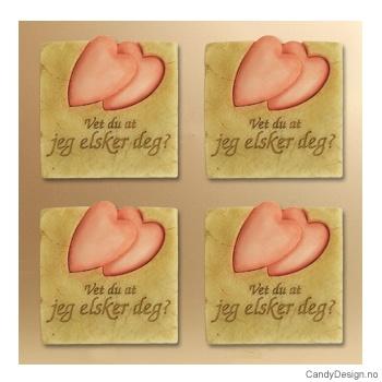 Kjærlighetsord magnet - Vet du at jeg elsker deg