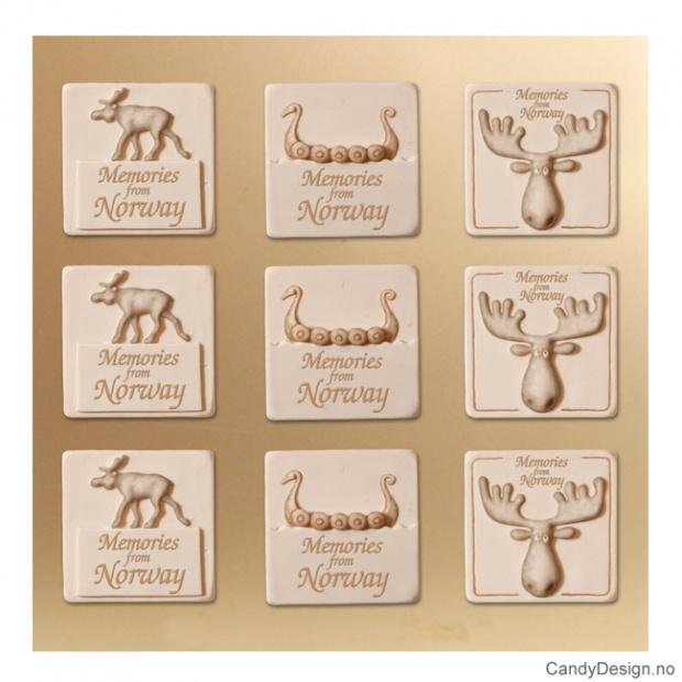 Magneter - kun elg, elghode og vikingskip
