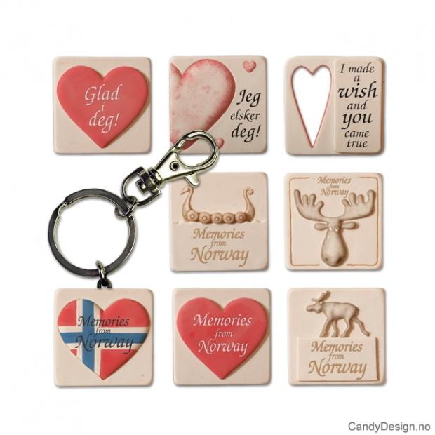 Diverse nøkkelringer elg/hjerte etc.