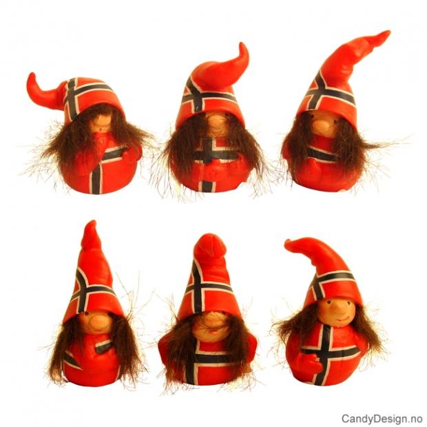 Nisse figurer i norske farger