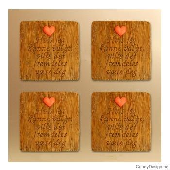 Magnetplate med kjærlighetstekst - Hvis jeg kunne valgt, ville jeg fremdeles være deg