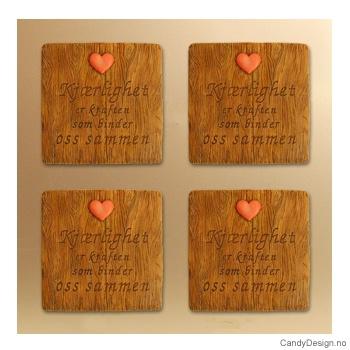 Magnetplate med kjærlighetstekst - Kjærlighet er kraften som binder oss sammen