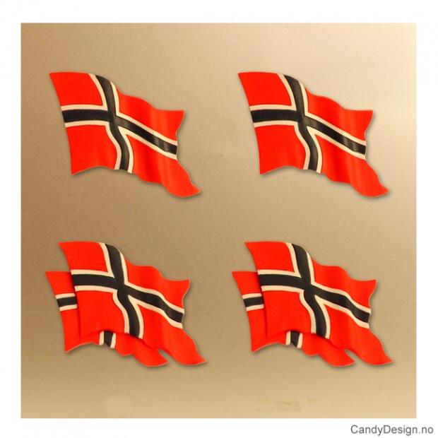 Magneter med Norske flagg