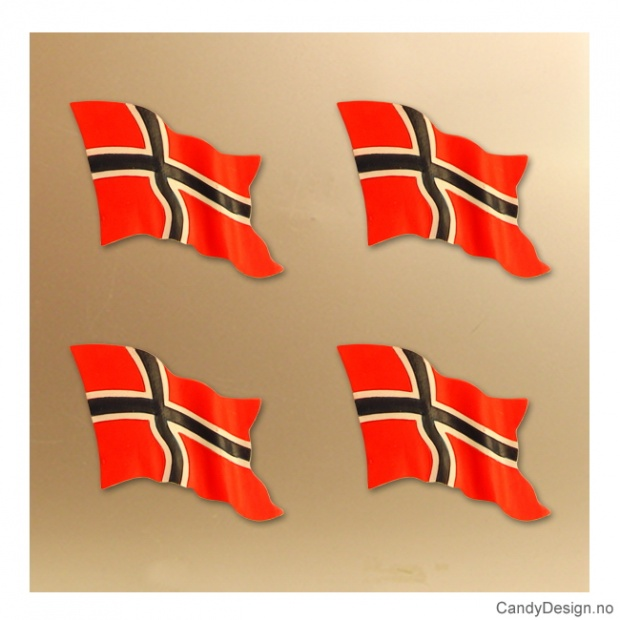 Magnet med Norsk flagg