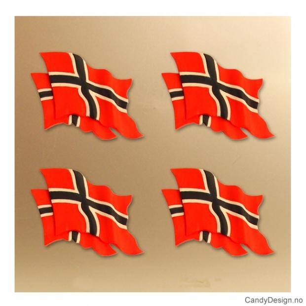 Magnet med Norsk dobbelt flagg