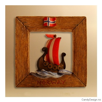Vindumagnet - Vikingskip