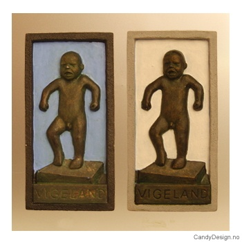 Sinnataggen magneter etter Gustav Vigeland