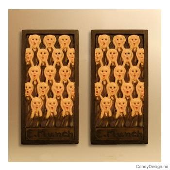 Skrik suvenir magnetplate etter Edvard Munch