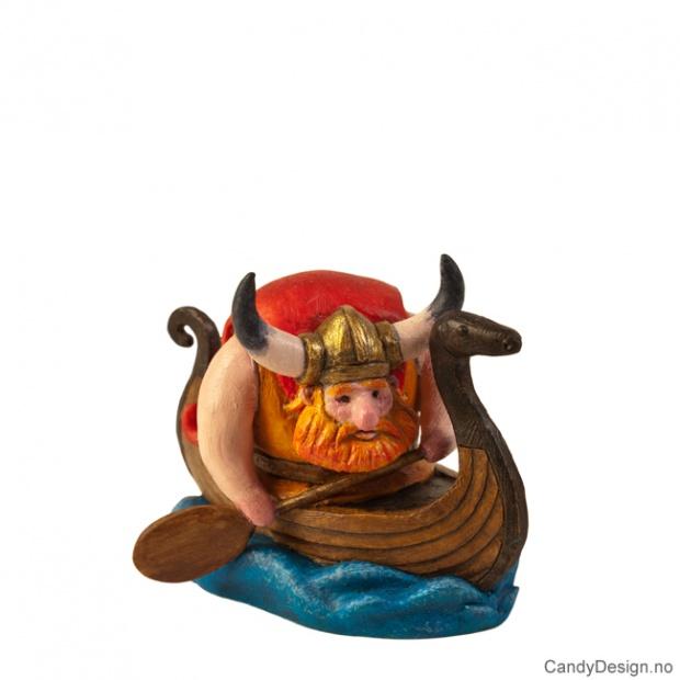 Viking padlende i vikingskip suvenir