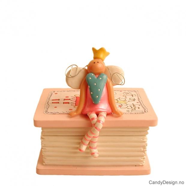 Bok skrin med engel