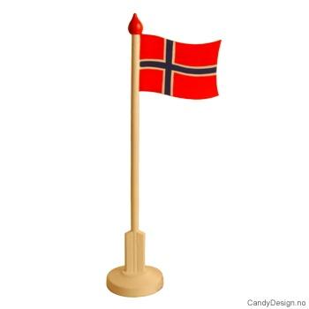 Stor suvenir flaggstang med Norsk flagg