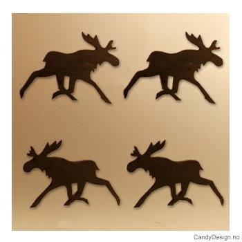 Løpende elg suvenir magnet