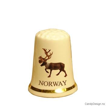 Fingerbøl med reinsdyr motiv