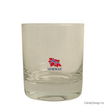 Whiskey glass - Norske Flagg