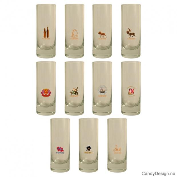 Assortert høye shotglass