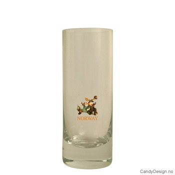 Høyt shotglass - Jeger og elg