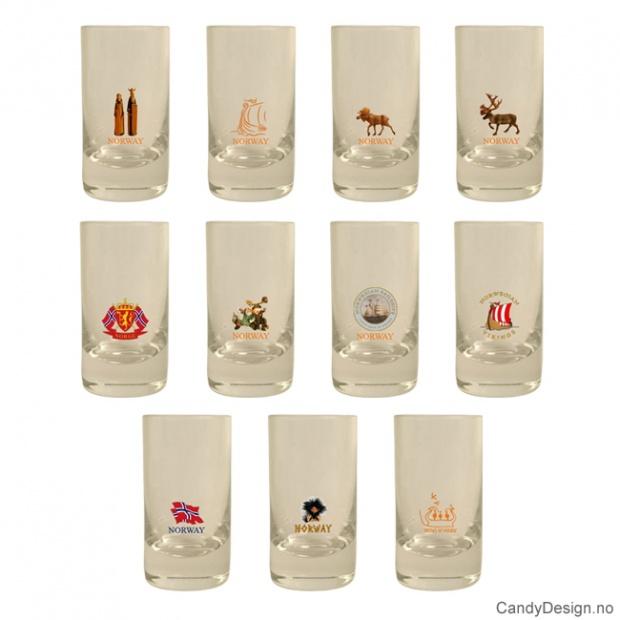 Assortert lave shotglass