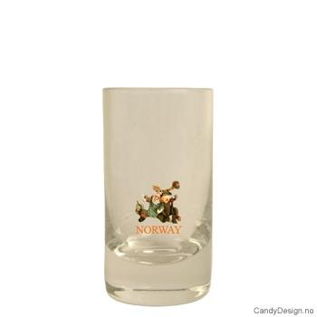Lavt shotglass - Jeger og elg