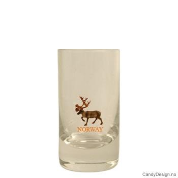Lavt shotglass - Reinsdyr