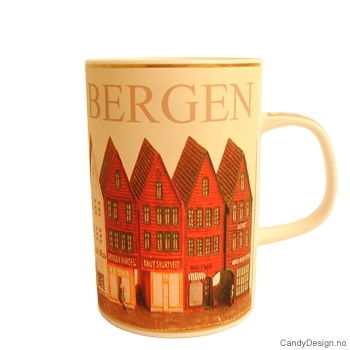 Krus med Norske motiv - Bryggen i Bergen