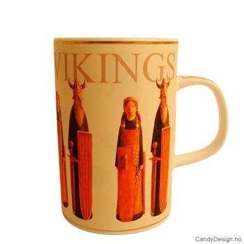 Krus med Norske motiv - Vikinger mann og kone