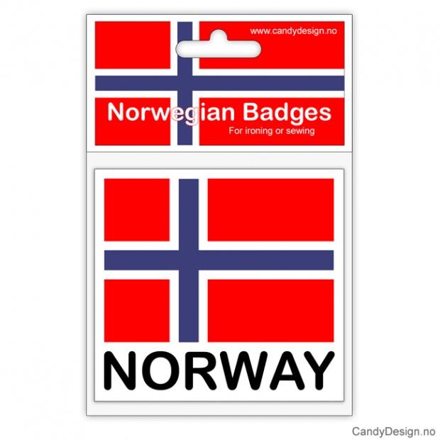 Norsk flagg  Suvenir jakkemerke med Norway