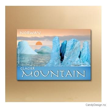 Glacier Mountain suvenir metallmagnet