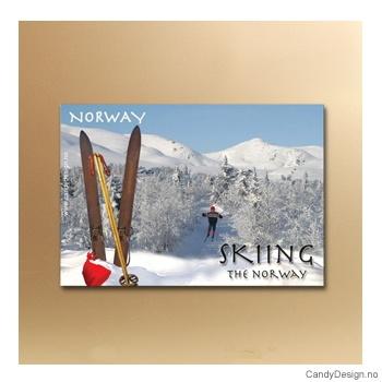 Skiing in Norway suvenir metallmagnet