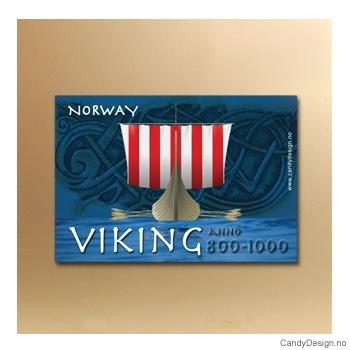 Vikingeskip forfra suvenir metallmagnet