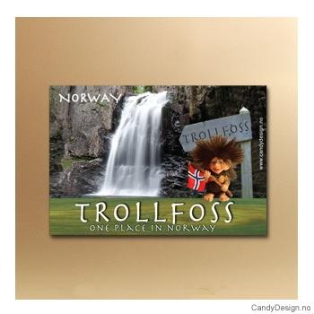 Trollfoss suvenir metallmagnet
