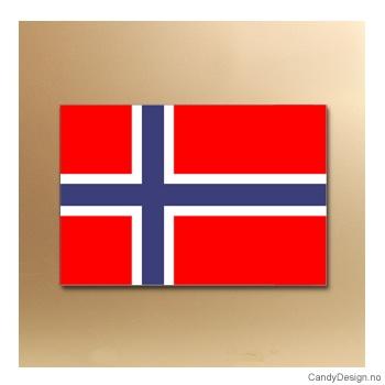 Norske flagg suvenir metallmagnet